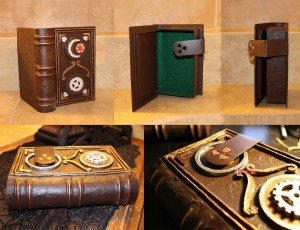Secret Compartment, Hollowed, Book Safe with Green Felt Lining